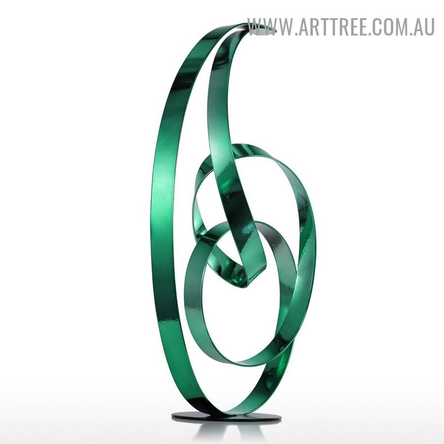 Freestanding Abstract Metal Figurine Modern Statue Backside