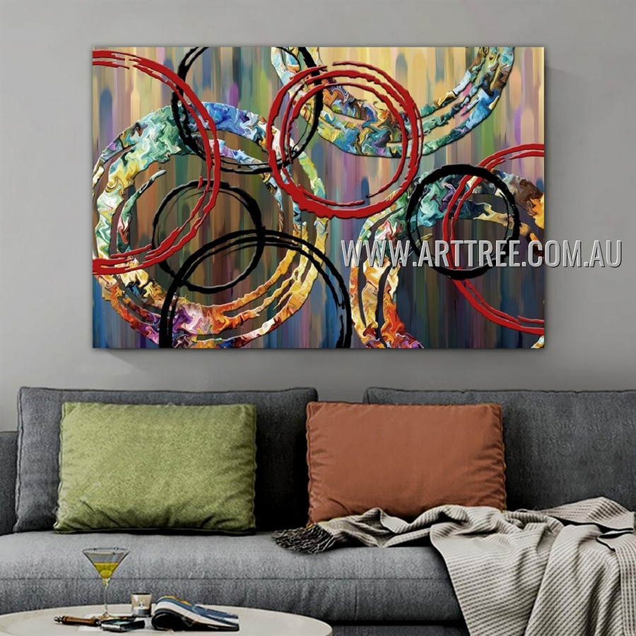 Twisting Contemporary Geometric Artist Handmade Impasto Framed Abstract Canvas Art Acrylic Painting For Room Wall Getup