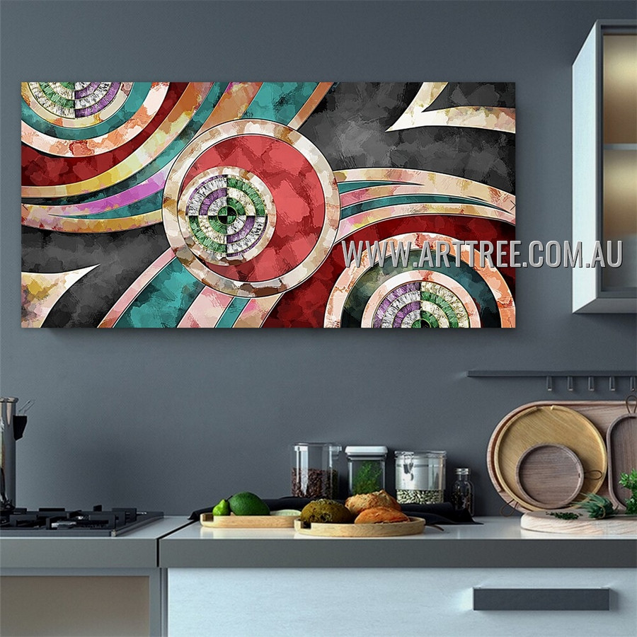 Wandering Lineaments Geometric Modern Heavy Texture Artist Handmade Framed Contemporary Abstract Canvas Art Painting For Room Wall Moulding