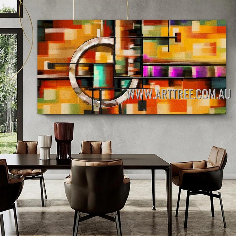 Trails Contemporary Artist Handmade Heavy Texture Palette Knife Framed Modern Abstract Artwork For Room Wall Decor