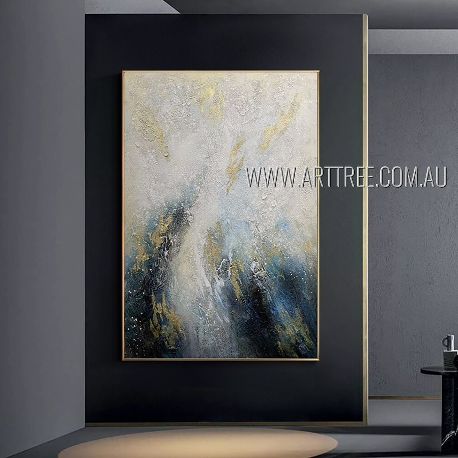 Colorific Maculas Abstract Artist Handmade Heavy Texture Contemporary Art Painting For Room Moulding