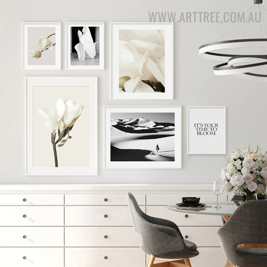 It's Your Time Abstract Vintage Quotes Artwork Photo 6 Piece Canvas Print for Room Wall Trimming