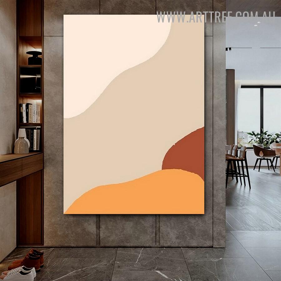 Sinuous Tarnish Spots Abstract Geometric Photo Scandinavian Wall Art Canvas Print for Room Molding