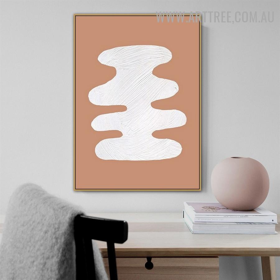 Curvy Blot Spot Abstract Artwork Scandinavian Photograph Canvas Print for Room Wall Disposition