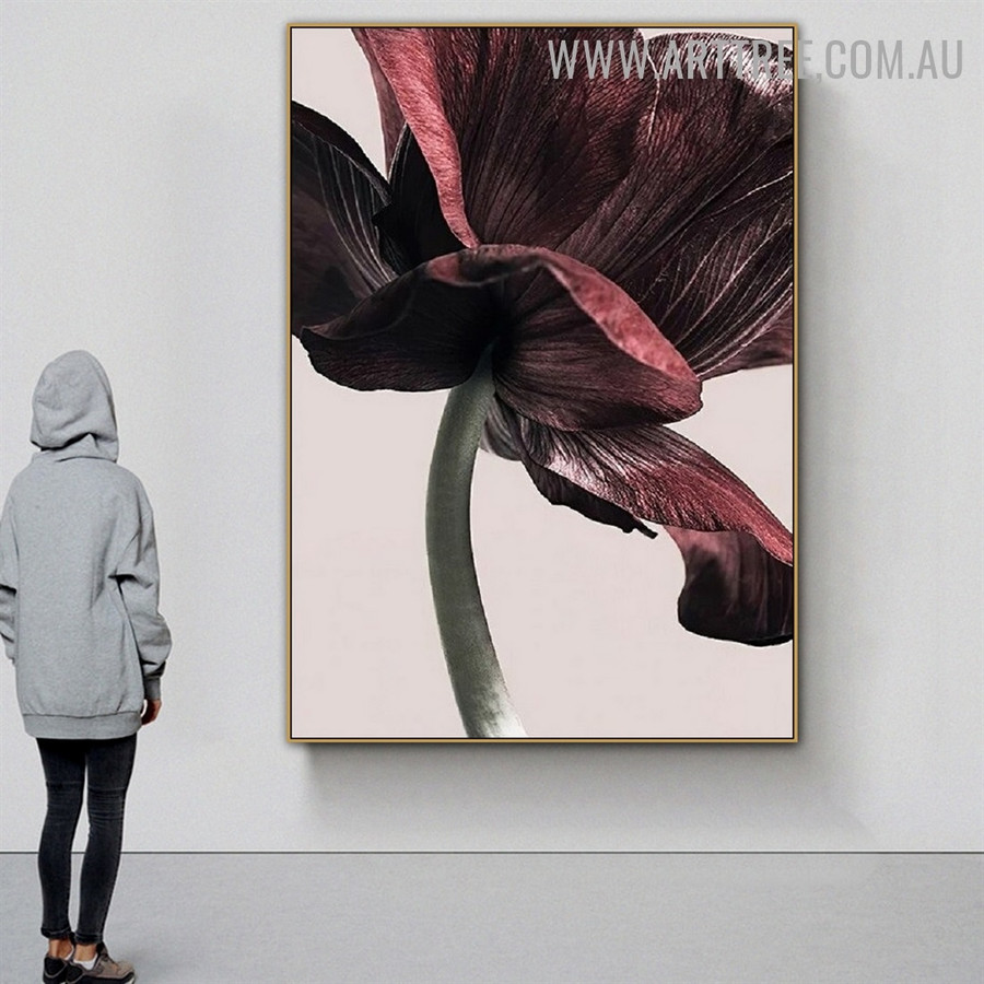 Motley Bloom Modern Floral Pic Canvas Abstract Art Print for Room Wall Tracery