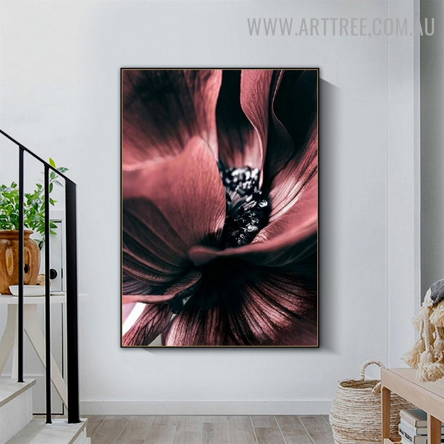 Hued Daffodils Floral Picture Canvas Print Abstract Modern Art Wall Hanging Molding