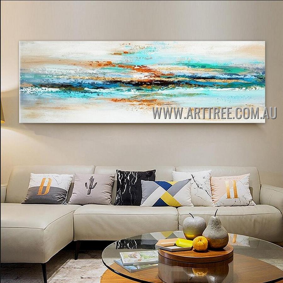 Motley Brush Strokes Abstract Heavy Texture Artist Handmade Contemporary Art Painting for Room Garniture