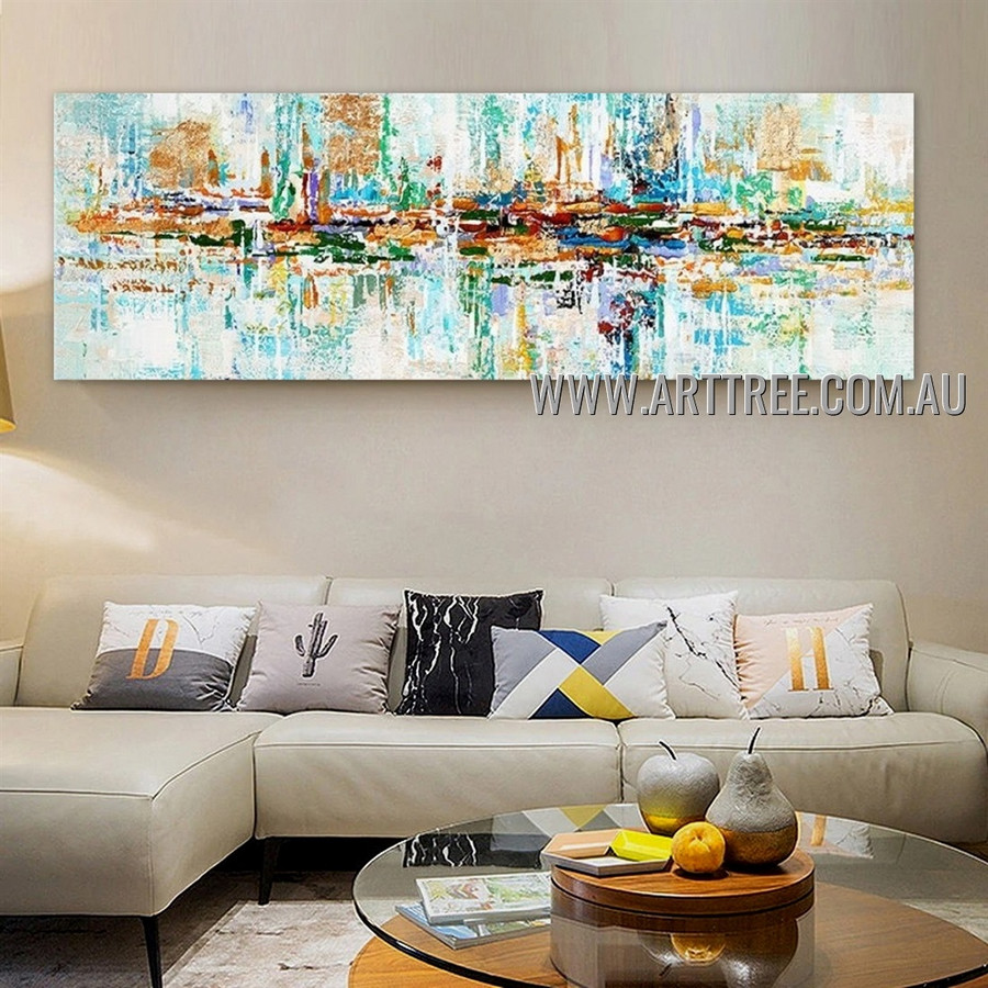 Pied Blot Pattern Abstract Heavy Texture Artist Handmade Modern Wall Art Painting for Room Adorn