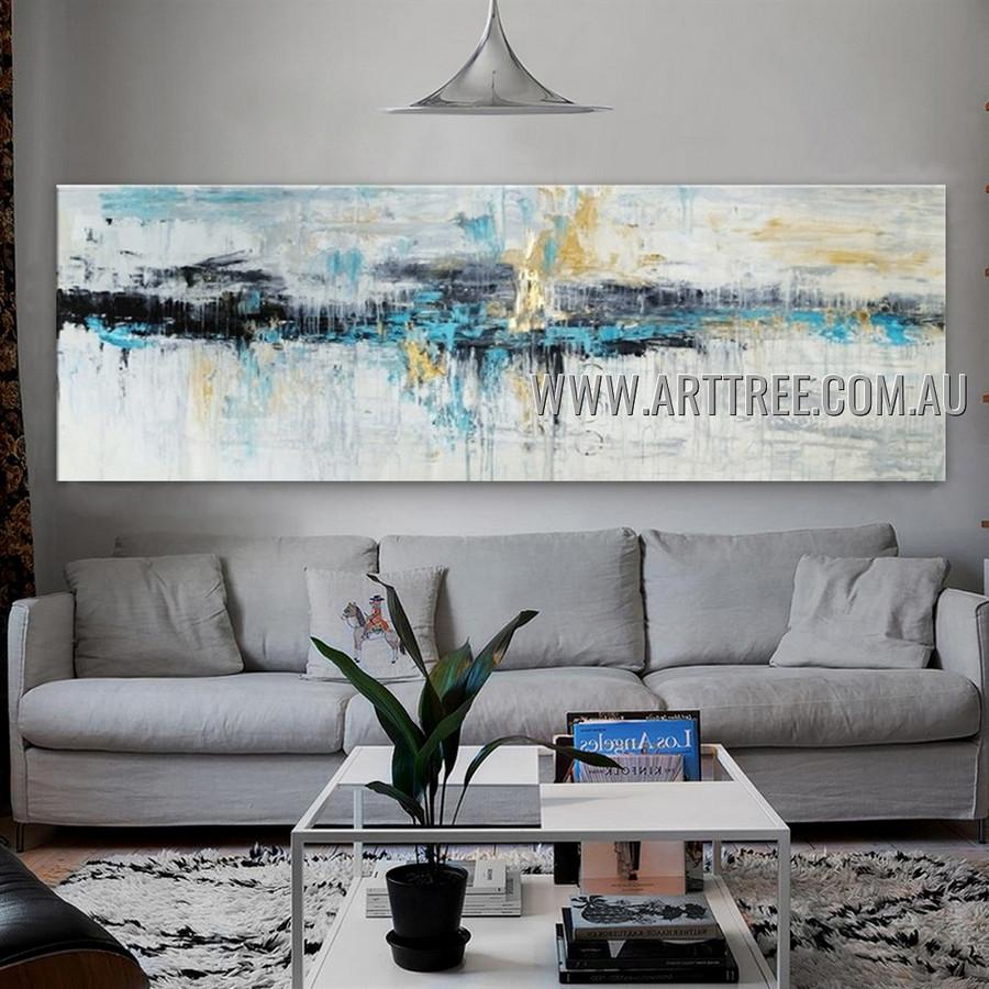 Chromatic Splashes Modern Heavy Texture Artist Handmade Abstract Artwork Painting for Room Drape