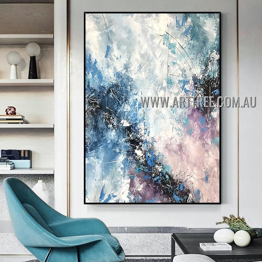 Glossy Tarnish Abstract Heavy Texture Artist Handmade Modern Art Painting for Room Garniture