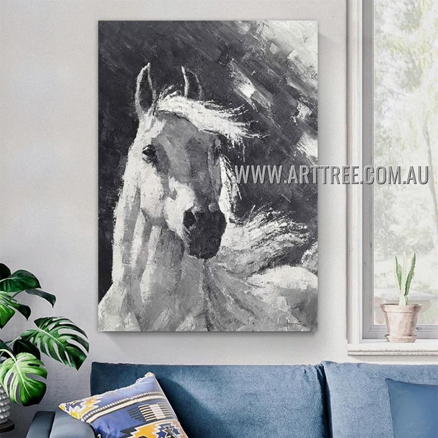 Bleak Steed Animal Abstract Heavy Texture Artist Handmade Contemporary Art Painting for Room Adorn