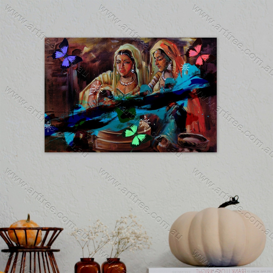Indian Lady Art