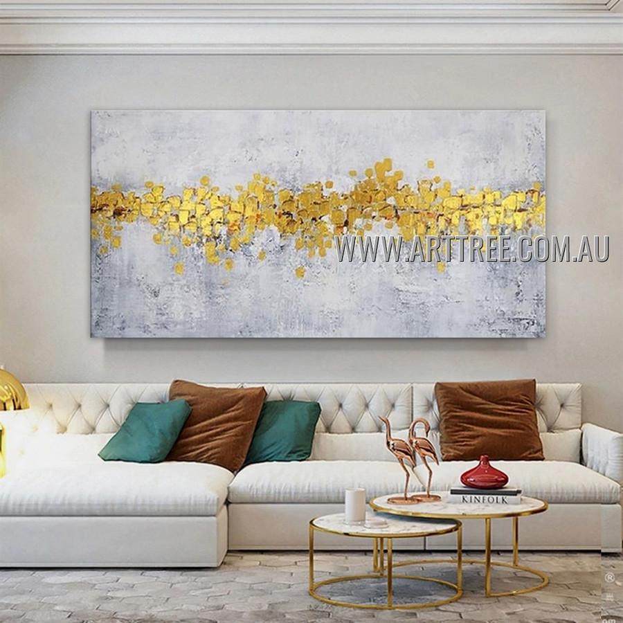 Golden Design Abstract Heavy Texture Artist Handmade Modern Wall Art Painting for Room Decor