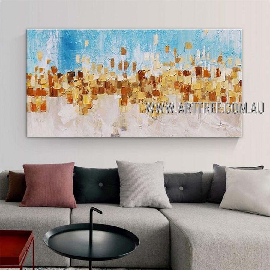 Auric Macular Contemporary Heavy Texture Artist Handmade Abstract Acrylic Painting for Room Getup