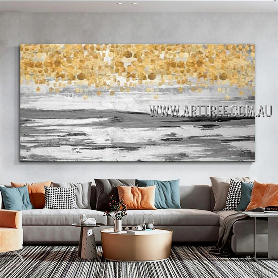 Repousse Speckled Design Abstract Heavy Texture Artist Handmade Modern Wall Art Painting for Room Getup
