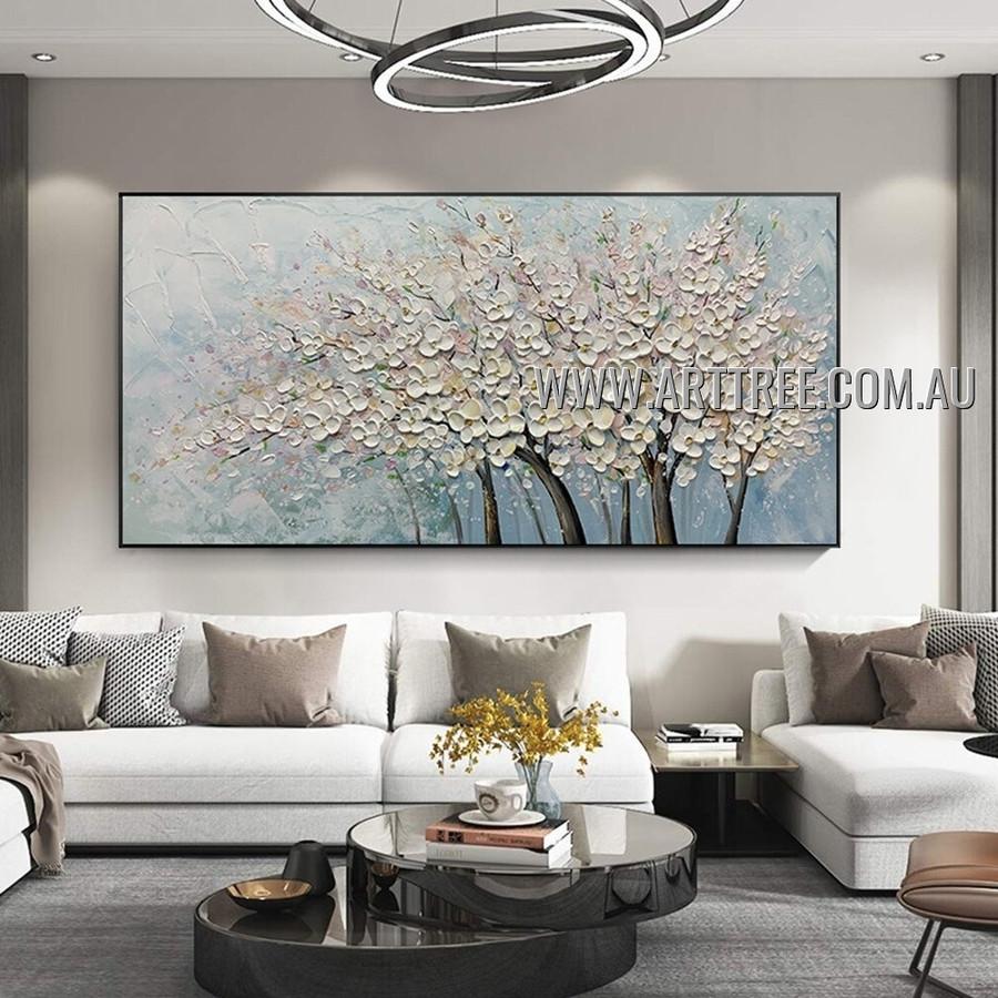 Floweret Arbors Botanical Modern Heavy Texture Artist Handmade Abstract Acrylic Painting for Room Onlay