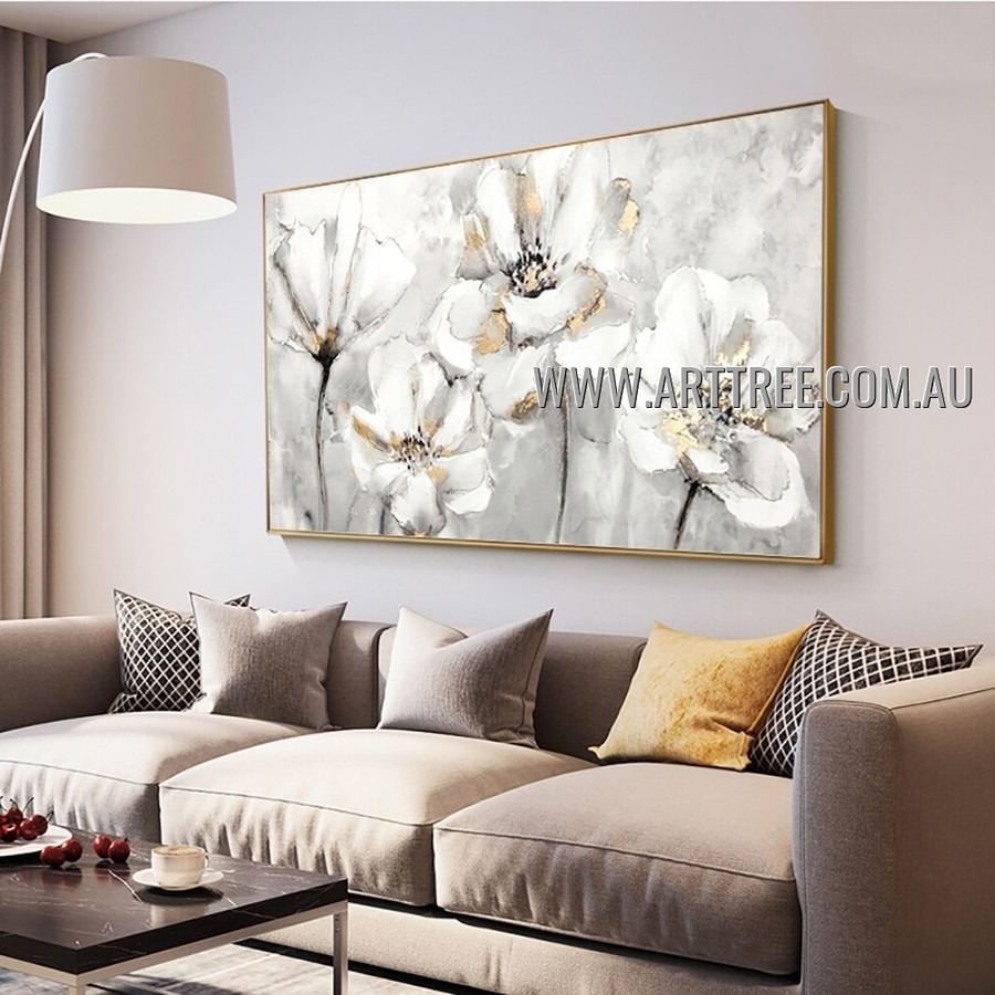 Flower Art Floral Abstract Heavy Texture Artist Handmade Modern Art Painting for Room Finery