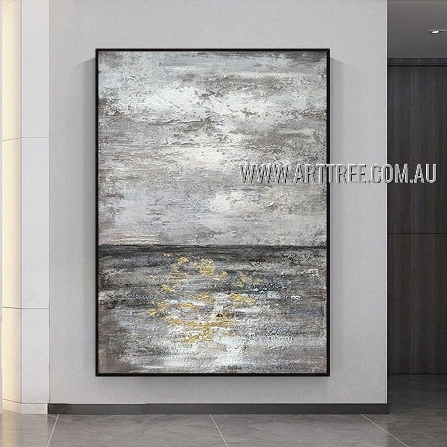Stain Pattern Abstract Heavy Texture Artist Handmade Modern Art Painting for Room Flourish