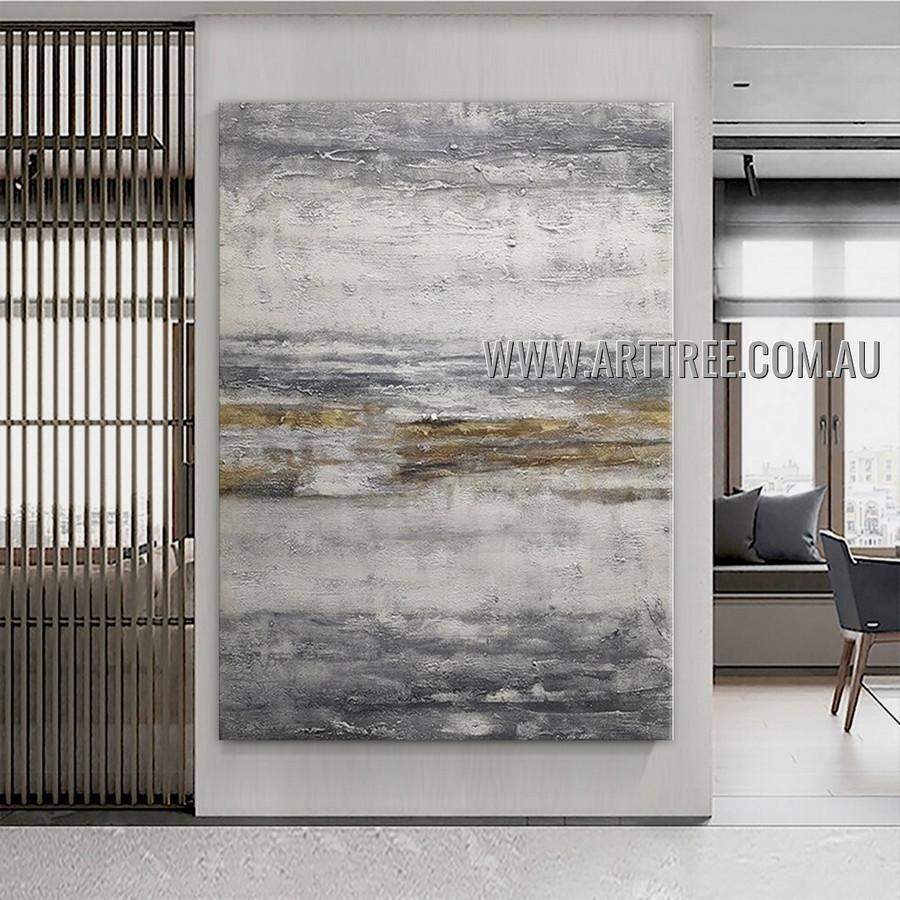 Smear Design Abstract Heavy Texture Artist Handmade Modern Wall Art Painting for Room Adorn
