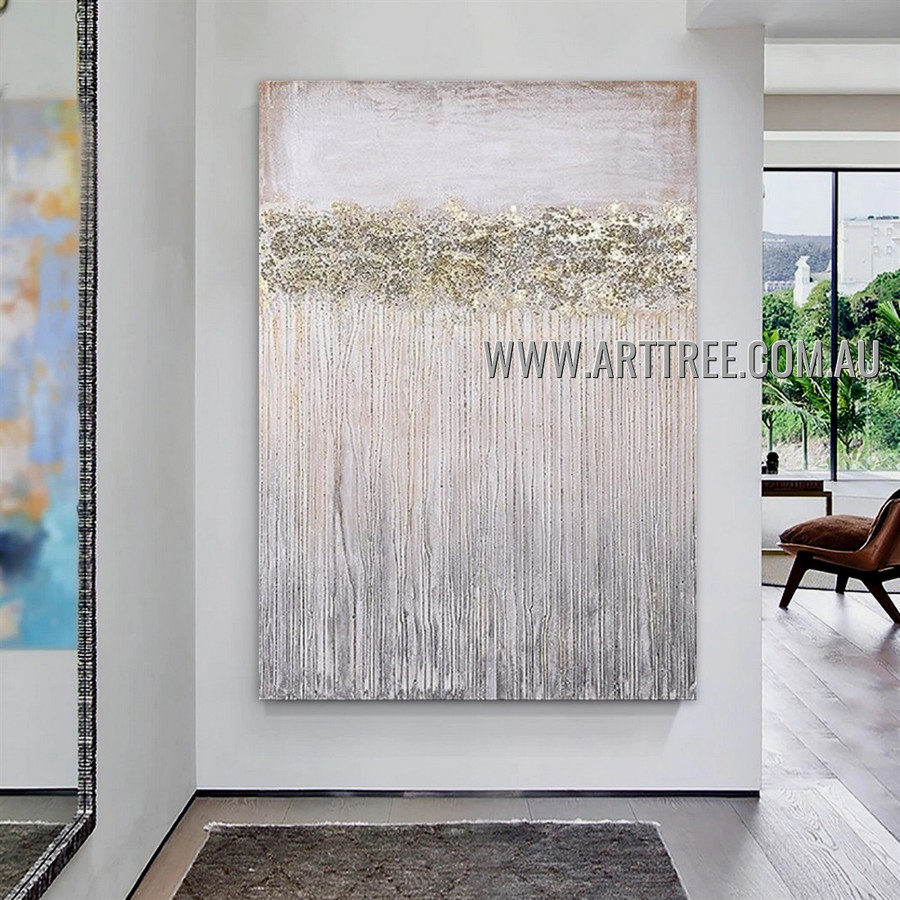 Streaks Pattern Modern Heavy Texture Artist Handmade Abstract Wall Art Painting for Room Decor