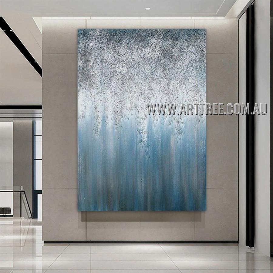 Chequered Attaints Abstract Heavy Texture Artist Handmade Modern Art Painting for Room Garniture