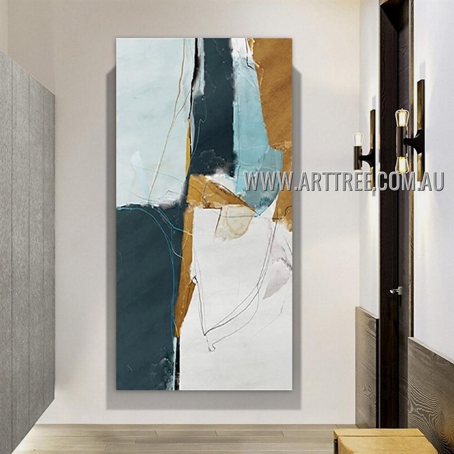 Calico Stain Design Modern Heavy Texture Artist Handmade Abstract Acrylic Painting for Room Flourish