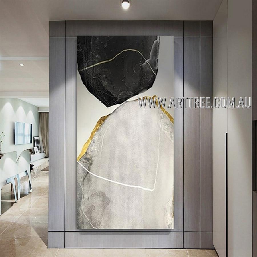 Chromatic Maculas Abstract Heavy Texture Artist Handmade Modern Art Painting for Room Decor
