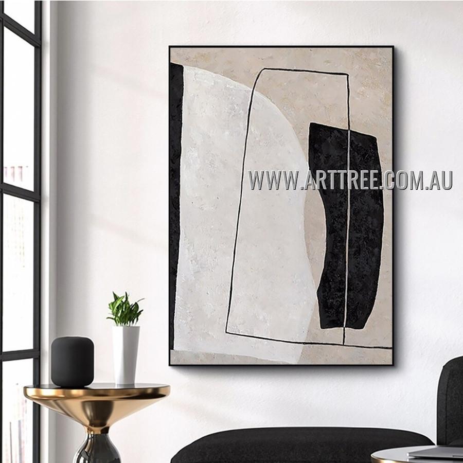 Vertical Rectangle Abstract Heavy Texture Artist Handmade Modern Art Painting for Room Getup