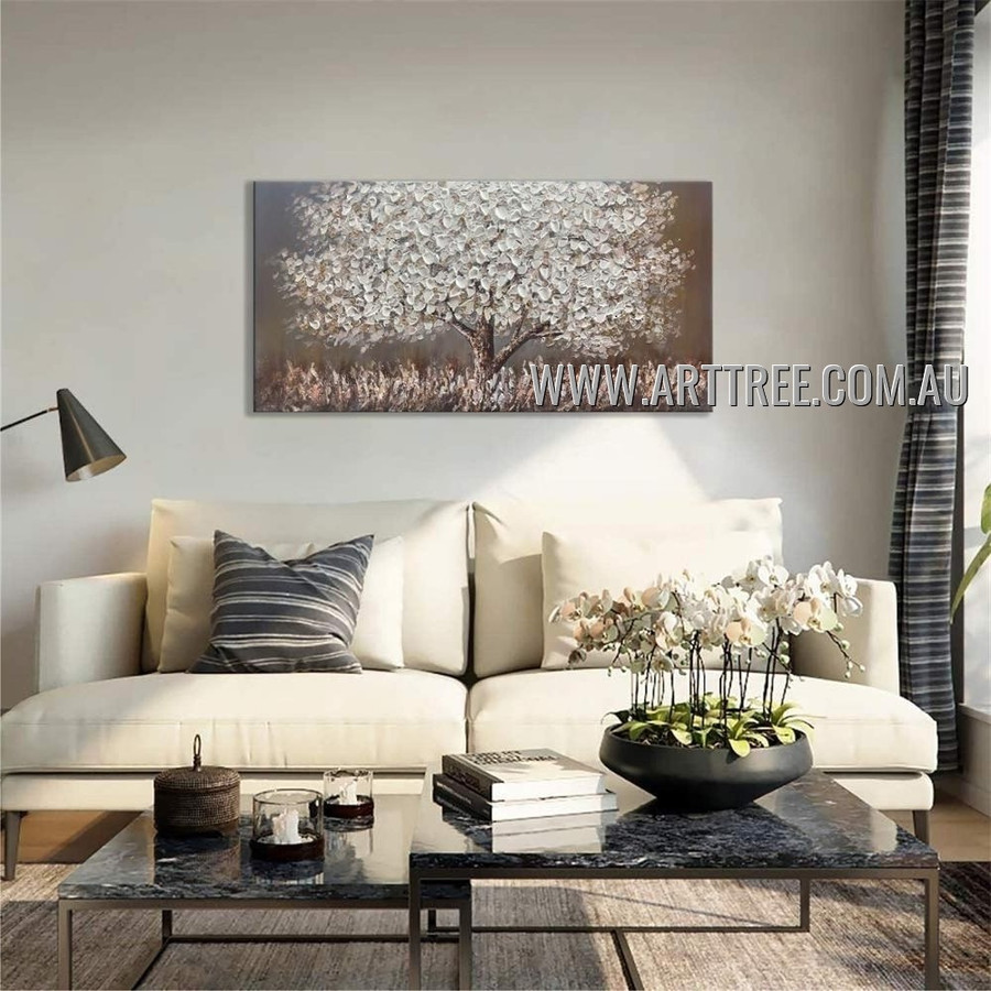 Flowerage Arbor Floral Abstract Heavy Texture Artist Handmade Modern Art Painting for Room Finery