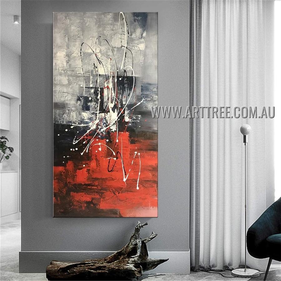 Zigzag Stripes Abstract Heavy Texture Artist Handmade Modern Wall Art Painting for Room Garnish
