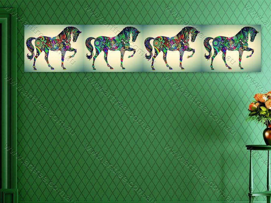 Horse Animal Art Collage