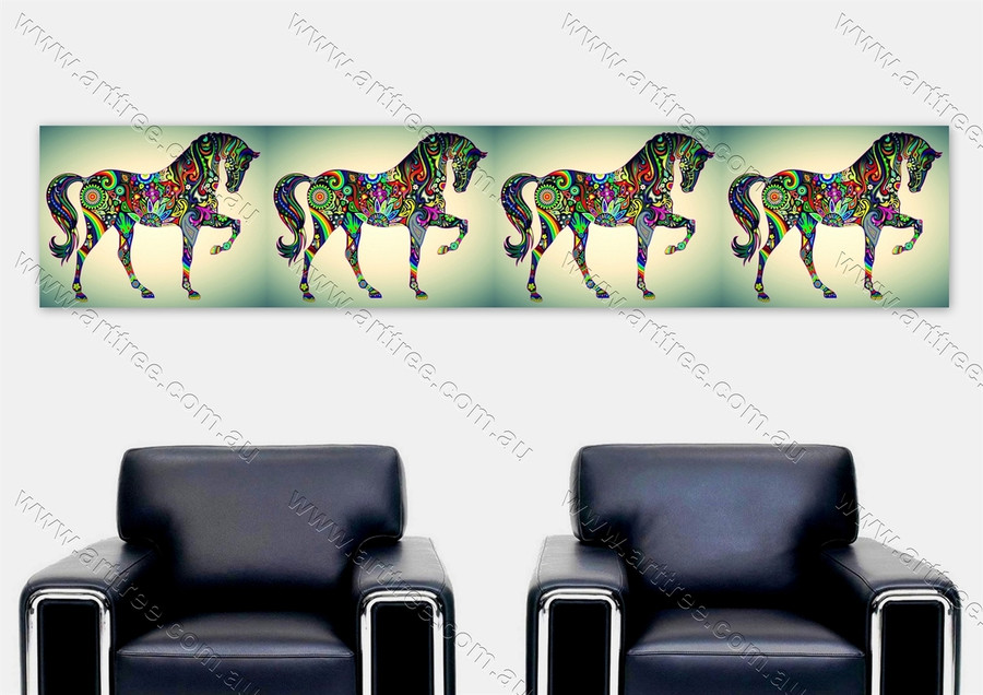 Green Base Horse Design