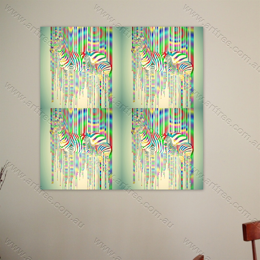Colorful Zebra Pop Art Design 01