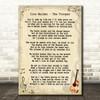 Iron Maiden The Trooper Vintage Guitar Song Lyric Framed Print