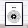Arctic Monkeys 505 Vinyl Record Song Lyric Print