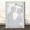 John Legend All Of Me Grey Song Lyric Man Lady Bride Groom Wedding Print