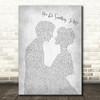 Paul Weller You Do Something To Me Man Lady Bride Groom Wedding Grey Song Print