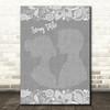 Any Song Lyrics Custom Grey Burlap & Lace Personalised Lyrics Print