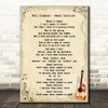 Neil Diamond Sweet Caroline Song Lyric Vintage Quote Print