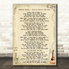 Shania Twain - You're Still The One Song Lyric Guitar Quote Print