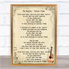 The Bangles Eternal Flame Song Lyric Quote Print