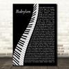 David Gray Babylon Piano Song Lyric Quote Music Print
