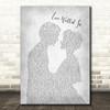 Thunder Love Walked In Man Lady Bride Groom Wedding Grey Song Lyric Wall Art Print