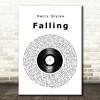 Harry Styles Falling Vinyl Record Song Lyric Wall Art Print