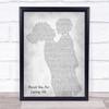 Bon Jovi Thank You For Loving Me Mother & Child Grey Song Lyric Print