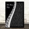ELO Mr Blue Sky Piano Song Lyric Art Print