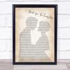 Bon Jovi Thank You For Loving Me Man Lady Bride Groom Wedding Song Lyric Print