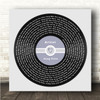 Square Blue Heart Vinyl Record Label Any Song Lyric Personalised Music Art Print