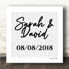 White Square Simple Script Any Song Lyric Personalised Music Wall Art Print