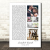 3 or 6 Square Wedding Photos White Side Script Any Song Lyric Wall Art Print